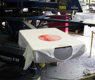 Printing machine with shirt