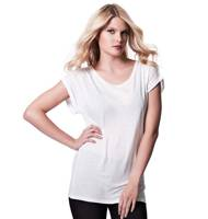 Continental Clothing Women's Rolled Sleeve Tunic T-Shirt