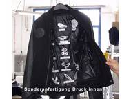 Custom-made jacket with print inside