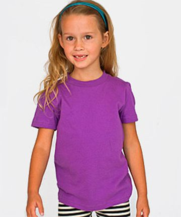 American Apparel 2201ORG Organic Youth Fine Jersey Short Sleeve T-Shirt