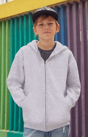 Kids Premium Hooded Zip Sweat Fruit of the Loom
