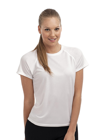 Ladies Tagless Crew Neck Sports H7800